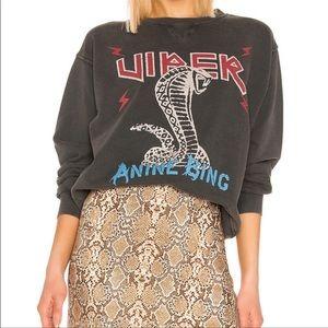 Anine Bing Rare Viper Cobra Snake Sweatshirt Small